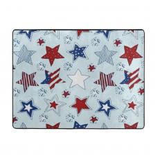 American Stars And Stripes Pattern Soft Carpet Easy Clean Stain Fade Resistant coffee table.63*48inch,Polyester.
