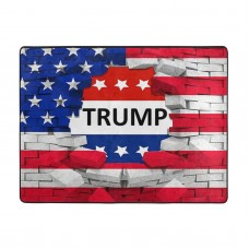 American USA Trump Flag Soft Carpet Easy Clean Stain Fade Resistant coffee table.63*48inch,Polyester.